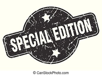 special edition round grunge isolated stamp