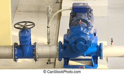 Special engine, valve and pipeline. biogas generation equipment. Static shot