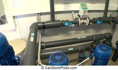 Special equipment used to clean water