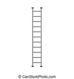 Special firetruck ladder equipment, flat cartoon vector illustration isolated