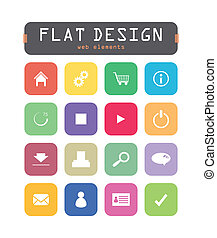 special flat ui icons for web and mobile applications