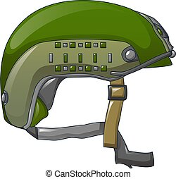 Special force helmet icon, cartoon style