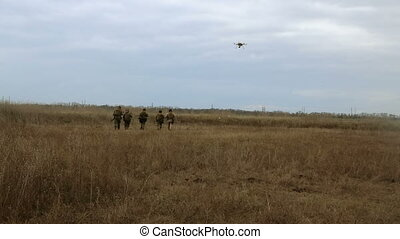 Aerial assistance monitors the fighting - Special force...