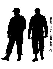 Special force on white background