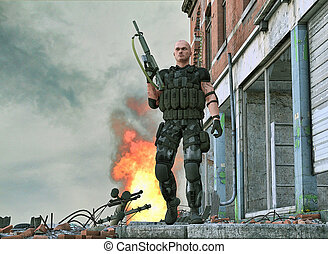 Special forces army soldier - A special forces army soldier...
