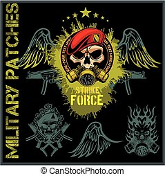 Special forces patch set - stock vector. - Special forces ...