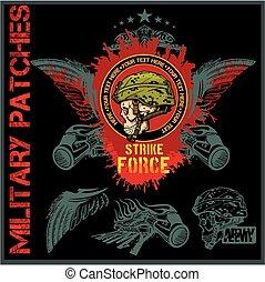 Special forces patch set - vector illustration
