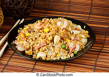 Special fried rice a popular oriental dish available at ...