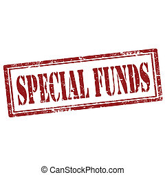 Special Funds-stamp - Grunge rubber stamp with text Special...