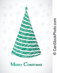 special green sketch Christmas tree design