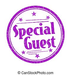 Special guest sign or stamp