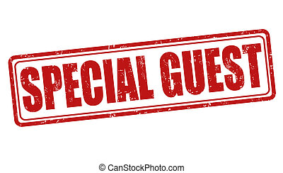 Special guest grunge rubber stamp on white background, vector illustration