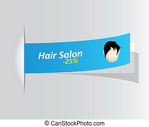 special hair salon promotional label