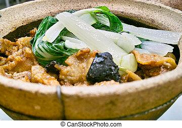 Special hot pot rice