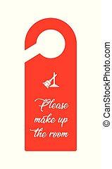 special hotel door knob design, vector, eps10