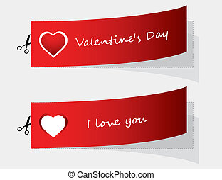 special labels for Valentine's day