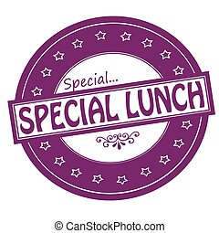 Special lunch - Rubber stamps with text special lunch...