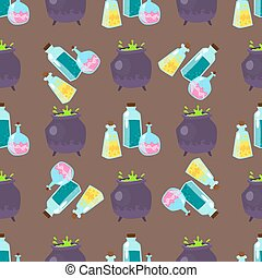 Special magic seamless pattern magician fantasy carnival mystery decoration vector illustration.