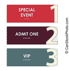 special modern ticket template, event ticket, admit one