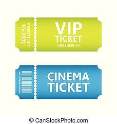 special movie ticket, vector design, eps10