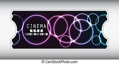 special movie ticket with plasma design