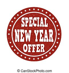 Special New Year offer stamp