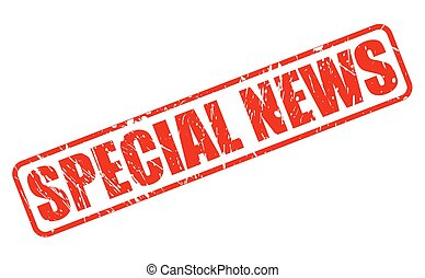 SPECIAL NEWS red stamp text