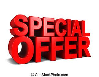 Special offer. 3d illustration isolated on white background
