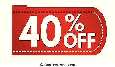 Special offer 40 % off banner design