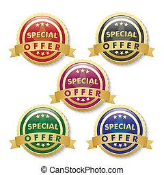 Special Offer 5 Golden Buttons