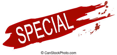 Special offer - An illustrated splash of color marked with ...