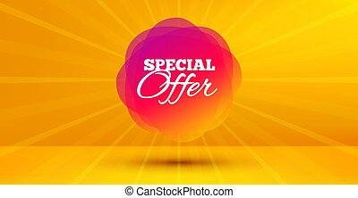 Special offer badge. Discount banner shape. Vector