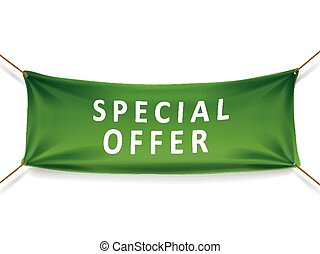 special offer banner isolated over white background