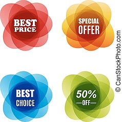 Special Offer, best choice and Best Price Marks
