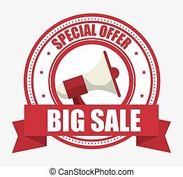special offer big sale megaphone banner