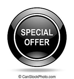 special offer black glossy icon