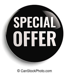 Special Offer Black Icon
