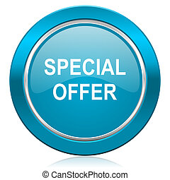 special offer blue icon
