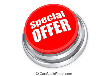 Special Offer Button - Special offer push button isolated on...