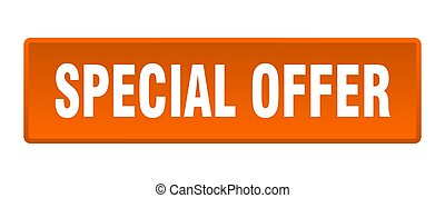 special offer button. special offer square orange push button