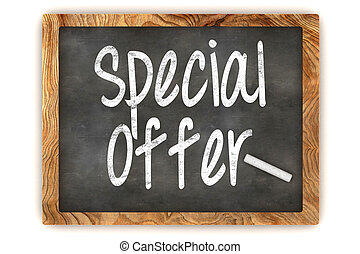 Special Offer Chalkboard - A Colourful 3d Rendered...
