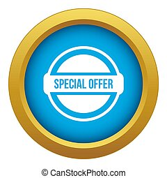 Special offer circle icon blue isolated