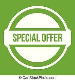 Special offer circle icon green
