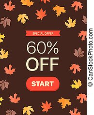 Special offer concept. 60 percent off. Vector illustration