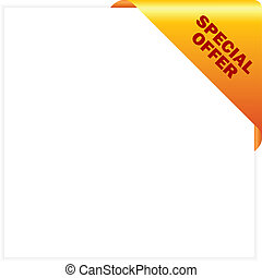 Special offer corner, vector illustration