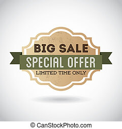 special offer design over gray background vector...