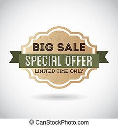 special offer design over gray background vector illustration