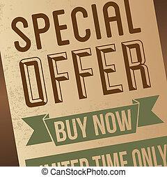 special offer design over retro background vector ...