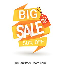 Special Offer Discount Big Sale Shopping Banner Flat Vector...
