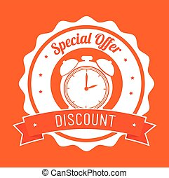special offer discount orange stamp banner
